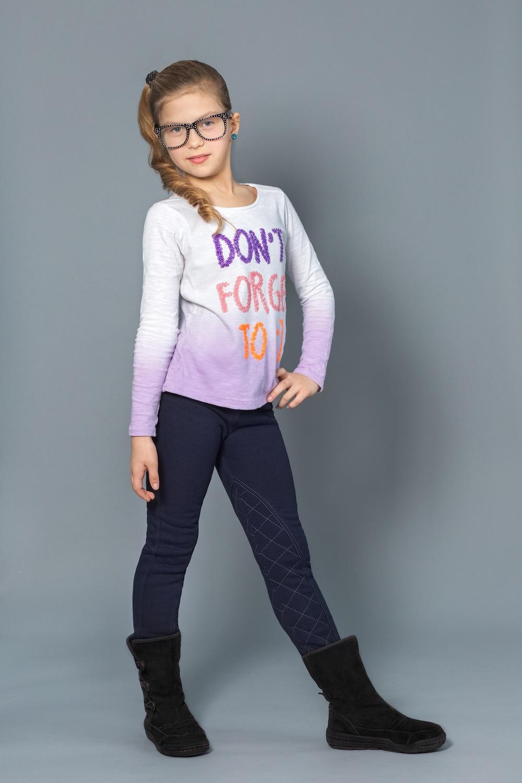 Модные детские брюки для девочек с начесом