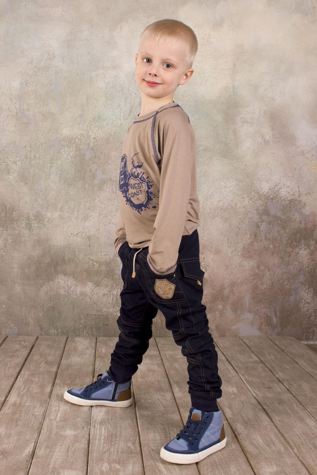 Брюки для мальчика джинсового типа