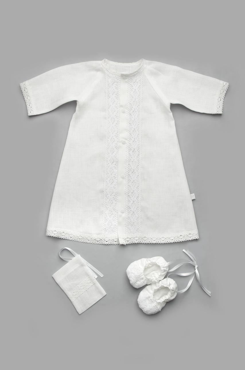 Крестильный комплект для мальчика из льна (без крыжмы)