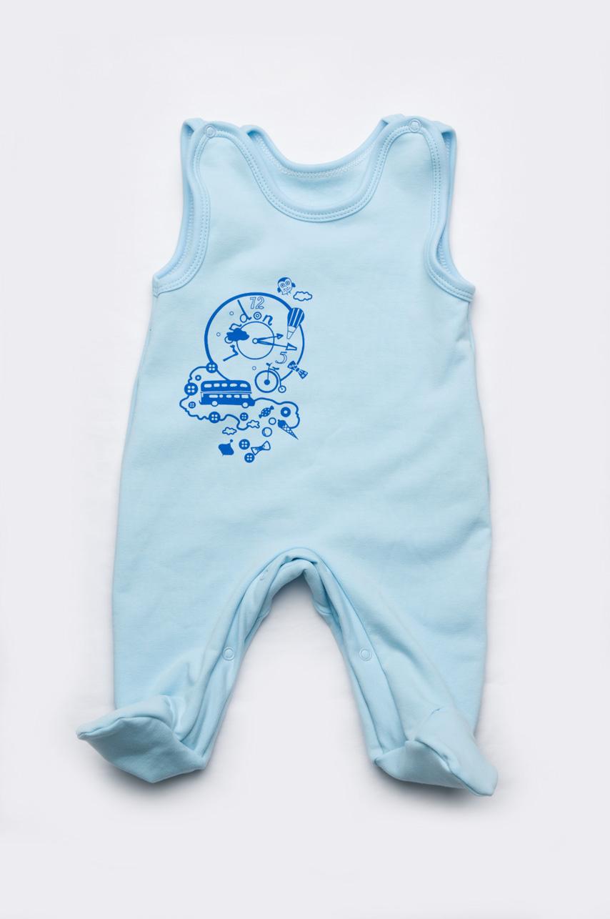 Детские ползунки для новорожденных высокие футер (унисекс)