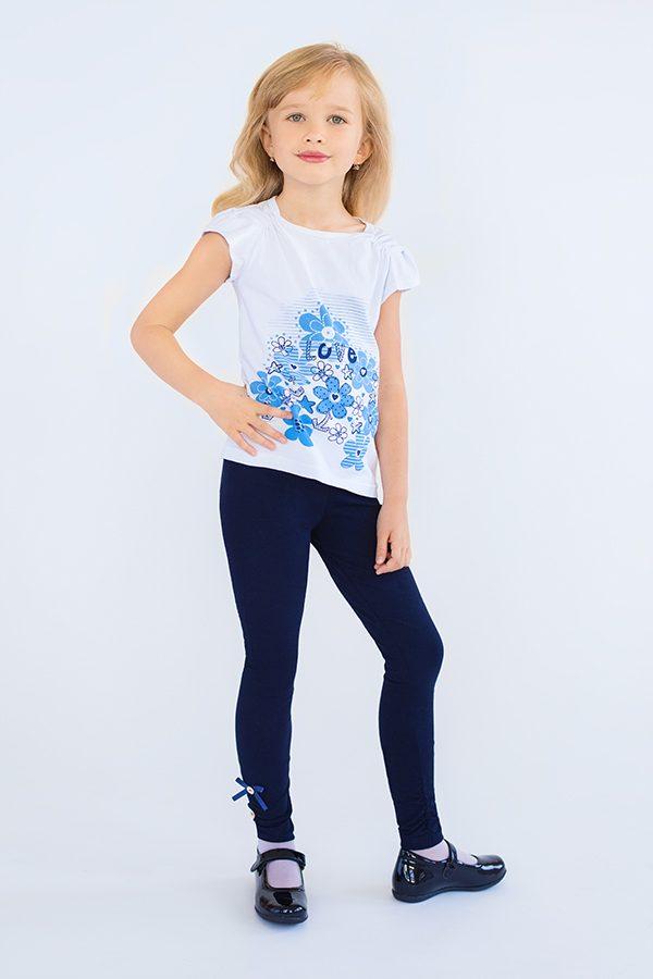 59fb9233005 Детские лосины для девочки из хлопоквой ткани синие купить недорого