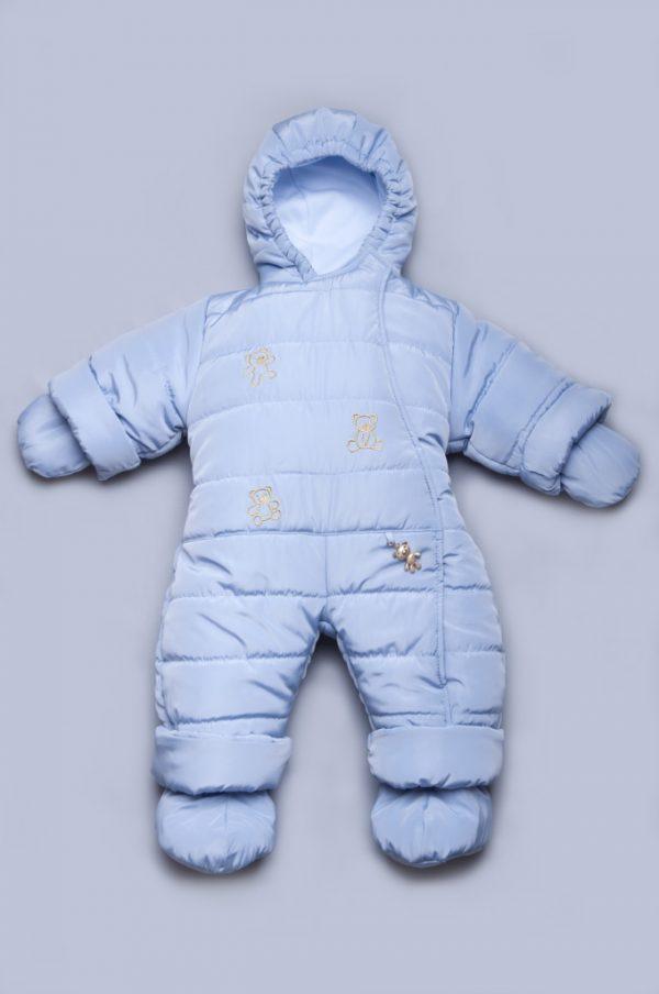 теплый сдельный комбинезон для новорожденного мальчика недорого