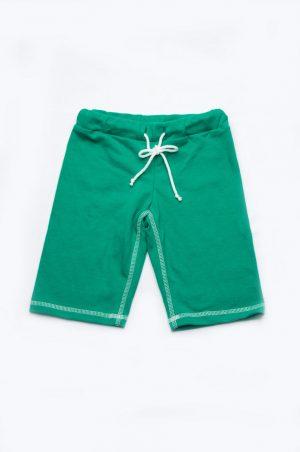 длинные шорты бермуды для мальчика зеленые недорого