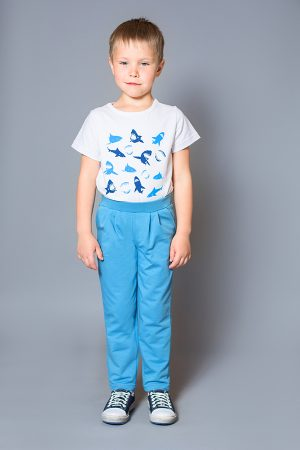брюки спортивные футболка акулы недорого