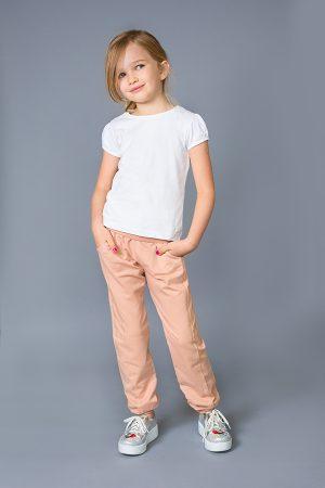 спортивные брюки на манжетах для девочки купить с доставкой