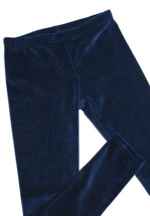 брюки лосины велюровые синие для девочки