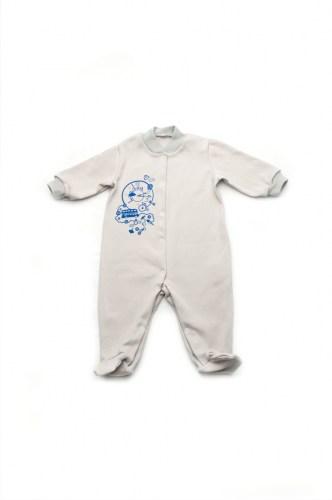 утепленный человечек для новорожденного футер