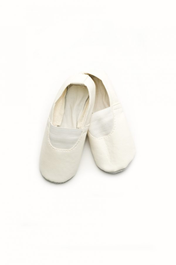 белые чешки для спорта танцев кожа недорого