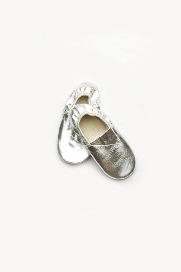 Детские чешки серебряные для утренника танцев