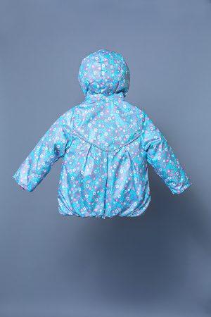 демисезонная куртка ветровка голубая для девочки