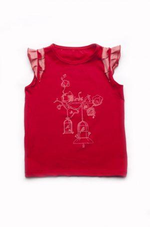 красная футболка для девочек купить Харьков