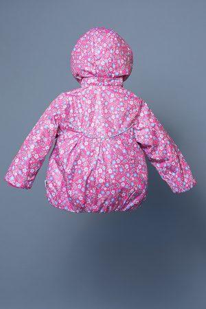 яркая свободная куртка со складками для девочки недорого