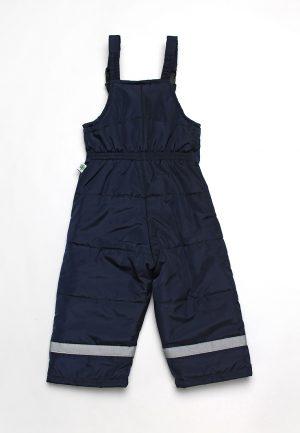 детские штаны с утеплителем на бретелях