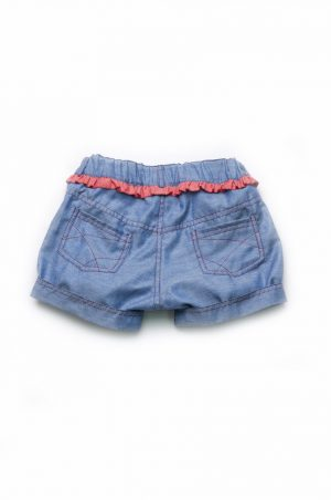 купить джинсовые шорты для девочки с яркой отделкой