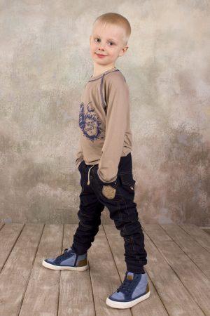 недорогой реглан из вискозы брюки джинсового типа для мальчика