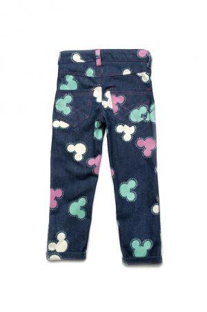 оригинальные джинсы для девочки принтованные микки