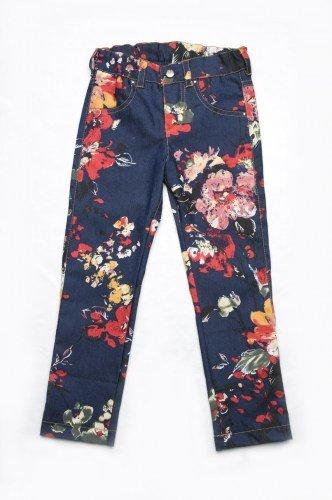 джинсы в цветочек для девочки купить Харьков