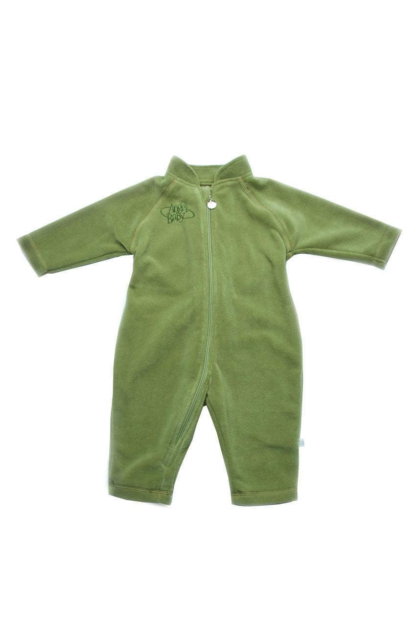 Флисовый детский комбинезон на змейке цвет хаки купить с доставкой 366c57752663c