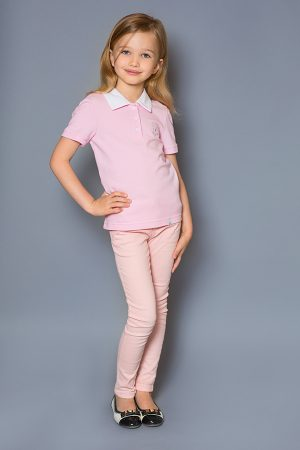 розовая футболка с якорем для девочки недорого