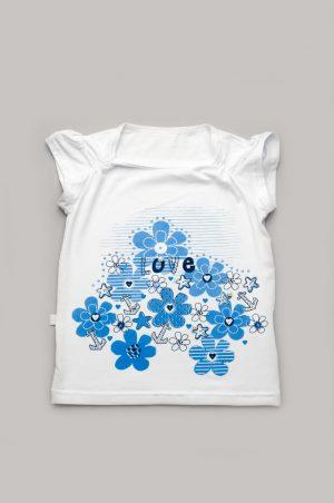 футболка для девочки с цветами якорем купить с доставкой