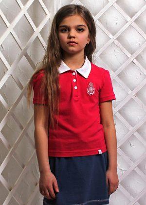 купить футболка поло малиновая детская Киев