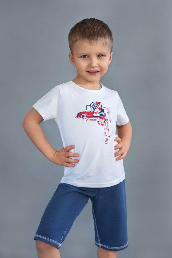 качественная белая футболка для мальчика