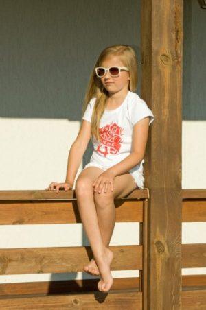 белая футболка для девочки family look мама дочка