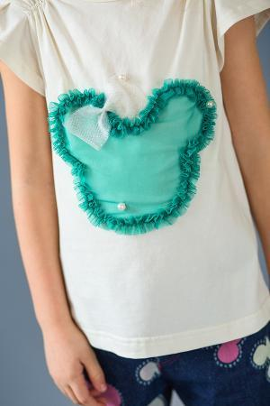 недорогая оригинальная футболка для девочки