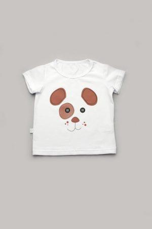 оригинальная белая футболка для мальчика щенок купить