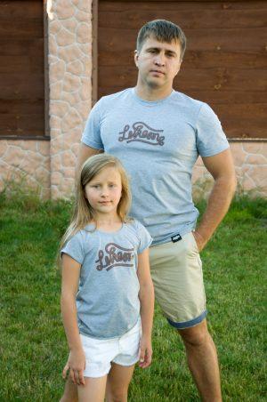 мужская футболка family look папа дочка мама