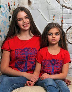 футболка family look мама дочка купить недорого