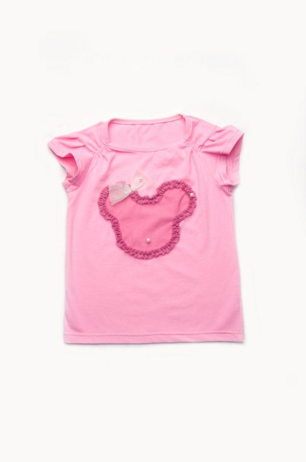 розовая футболка для девочки купить с доставкой