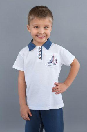 белая футболка поло для мальчика купить недорого от производителя