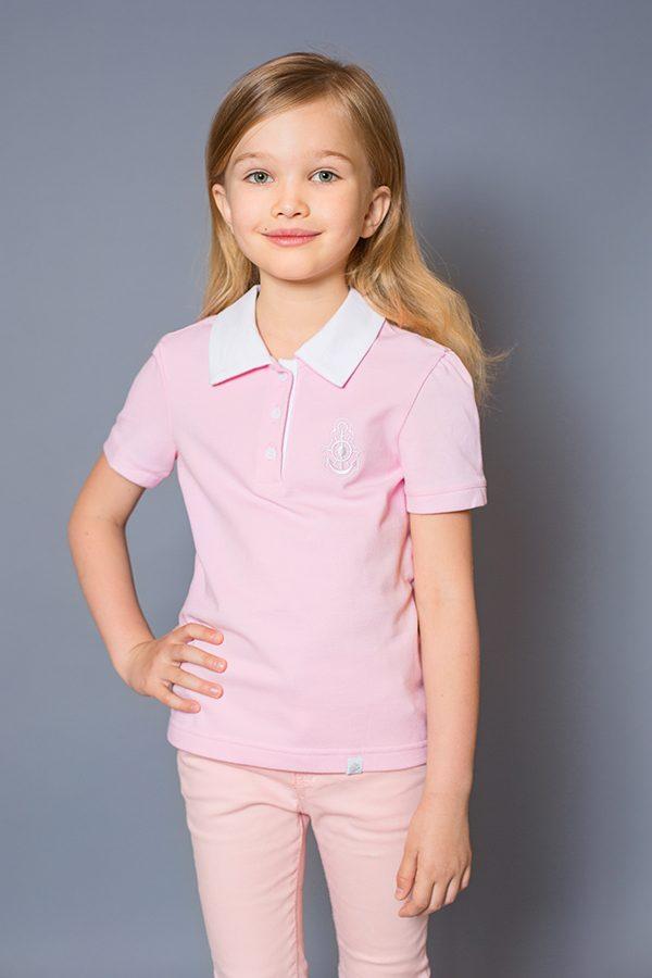 футболка поло для девочки розовая купить Киев