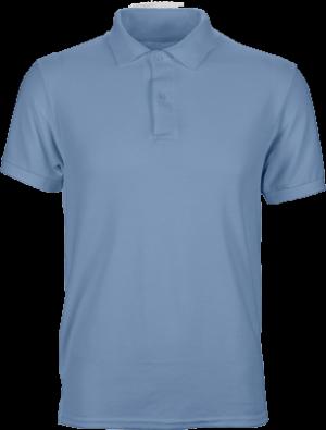 футболка поло мужская однотонная голубая