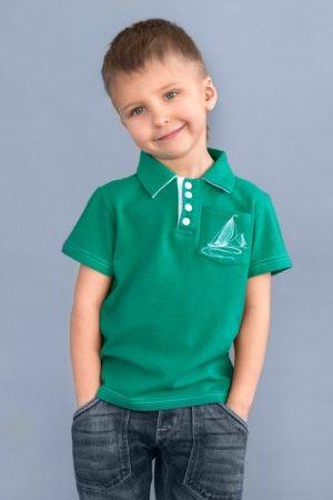 футболка поло зеленая для мальчика недорого Харьков