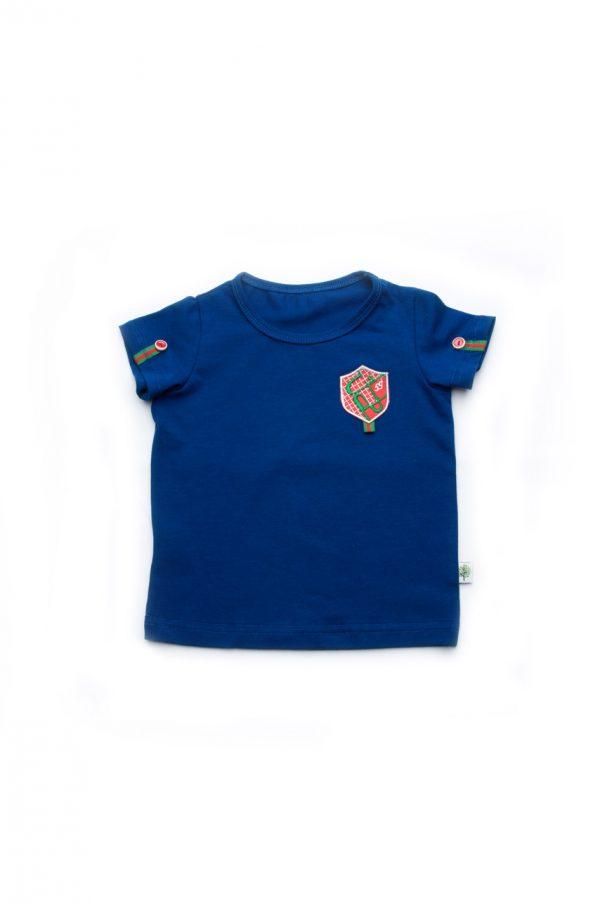синяя футболка с шевроном для мальчика купить Киев