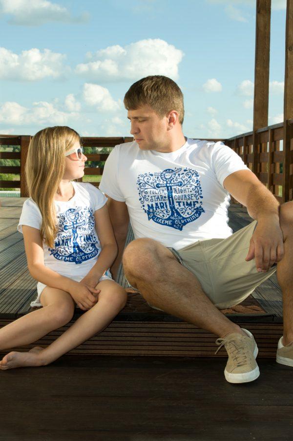 футболка мужская family look папа дочка недорого