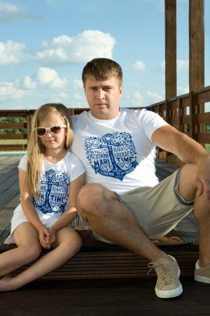мужская футболка фэмили лук папа дочка купить