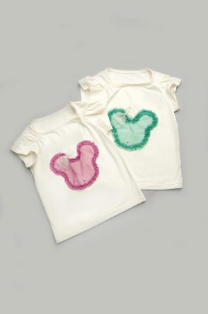 недорогая футболка микки для девочки