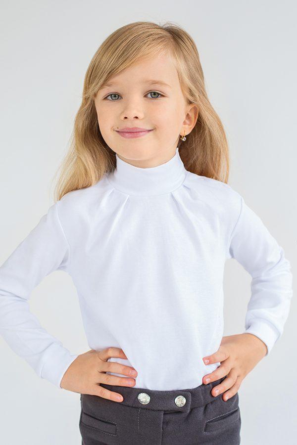 белый нарядный гольф кофточка для девочки недорого