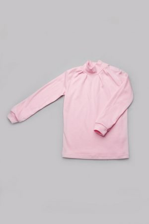 качественный недорогой гольф для девочки розовый