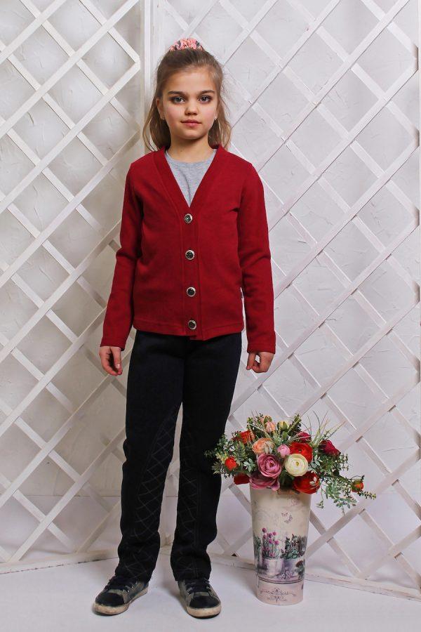 трикотажная кофта в школу для девочки купить Киев