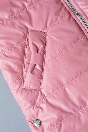 детская жилетка с карманами розовая недорого