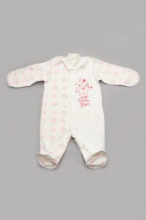 человечек для новорожденной с закрытыми рукавами