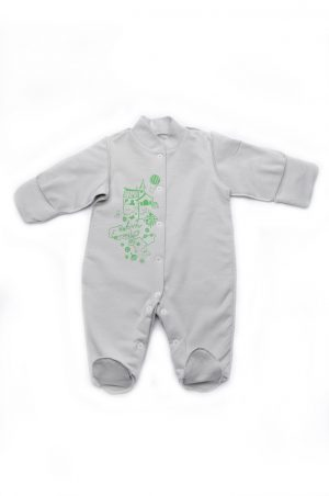 человечек с закрытыми рукавами для новорожденных унисекс