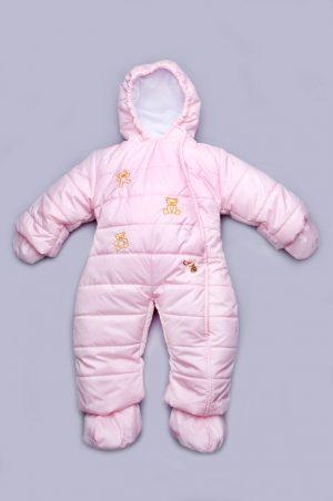 комбинезон сдельный розовый для новорожденной купить с доставкой