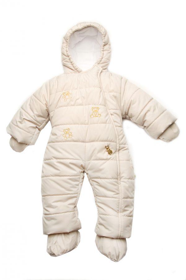 комбинезон бежевый сдельный зима для новорожденных купить Харьков
