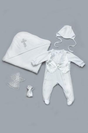 недорогой комплект крестильный для новорожденного