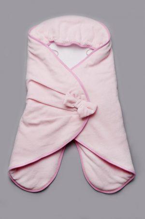 розовый конверт кокон для девочки